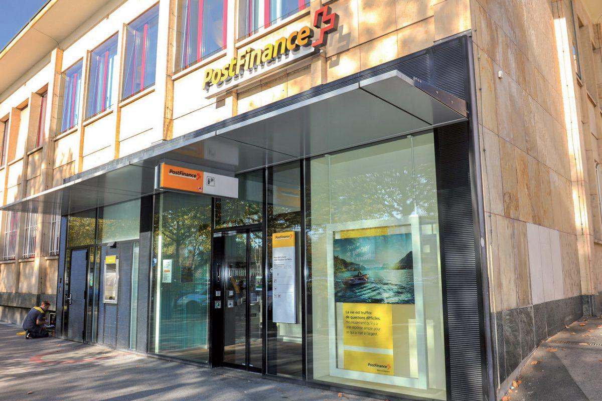 La filiale de PostFinance ferme ses guichets