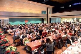Environ 470 personnes se sont rassemblées dans la bonne humeur à la salle de La Marive. ©Michel Duvoisin