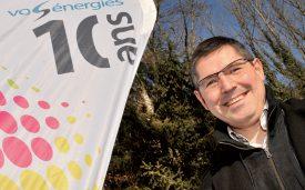 Le syndic de Vallorbe, Stéphane Costantini, avait le sourire, hier lors de l'inauguration de la nouvelle centrale hydroélectrique du Bief Rouge. ©Jean-Philippe Pressl-Wenger