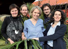 Thérèse Aubert, Yann Mamin, Céline Ehrwein Nihan, Julien Wicki et Frédérique Böhi sont des membres actifs du comité. Manquent à l'appel Ervin Sheu et Francine Sacco. ©Michel Duperrex