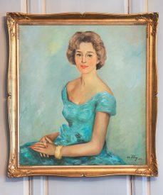 L'année de ses 52 ans, un peintre norvégien a peint Marguerite de Mérey. Cette oeuvre trône désormais fièrement sur les murs du salon de la bâtisse de la rue du Four. ©Carole Alkabes