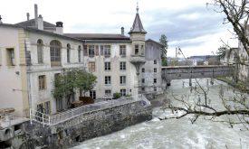 Pierre-André Vuitel, responsable du musée, a peur que le promoteur Orllati S.A. Condamne le lieu historique urbigène pour en faire des appartements. ©Duperrex-a