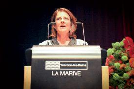 La présidente du conseil d'administration, Nicole Oulevay, a attribué la qualité des résultats à l'engagement sans faille du personnel. ©Carole Alkabes