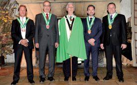 Vincent Corbaz, Guy Parmelin, le Gouverneur Bernard Despont, Jean-Marc Chevallaz et Jacques Nicolet (de g. À dr.) ©Michel Duperrex