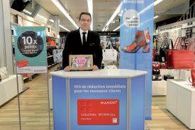 Pascal Maudry, directeur des magasins Manor à Yverdon-les-Bains, est heureux de proposer la nouvelle carte, formule élargie. ©Michel Duperrex