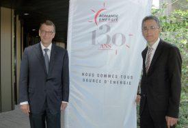 Me Guy Mustaki, président du conseil d'administration, et Pierre-Alain Urech, directeur général. ©Raposo