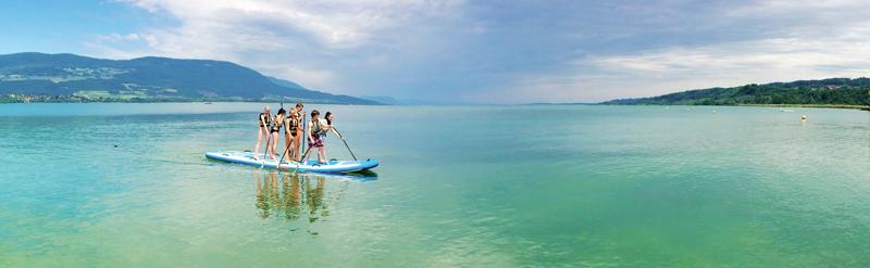 Le stand-up paddle «Big mama» est l'une des nouveautés proposées cette année par le Club nautique Y-Plage. ©DR