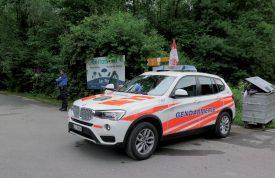 La Gendarmerie a contrôlé tous les accès au Camping des Pins. ©Raposo