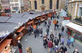 La structure du Marché de Noël d'Yverdon-les-Bains ne devrait pas subir de grande modification dans l'immédiat. ©Duperrex-a