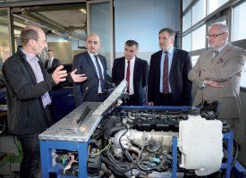 Une délégation du Kosovo a été accueillie il y a peu au Centre de formation de l'UPSA Vaud par le directeur Philippe Monnard (à g). ©Duperrex-a