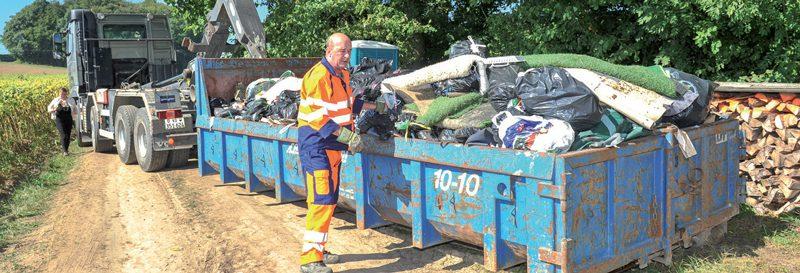 Hier matin, l'heure était à l'évacuation des déchets. ©Carole Alkabes