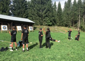 Les Nord-Vaudois lors de l'épreuve de tir à l'arc, samedi dernier. ©DR