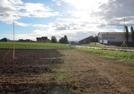 Les gabarits de l'ouvrage sont déjà en place à l'entrée de la localité de Chavornay, côté Orbe. ©Christelle Maillard