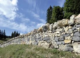 Mur en pierres sèches dans le Brassus. ©Michel Duperrex