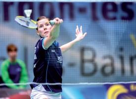 Sabrina Jaquet s'est battue pour rester dans la partie, avant de prendre la main et de remporter la finale du Swiss International. ©Champi