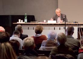 Pierre-Philippe Bugnard, de l'Université de Fribourg, venu, hier matin, parler de Grégoire Girard et de la question sociale. ©Muriel Aubert