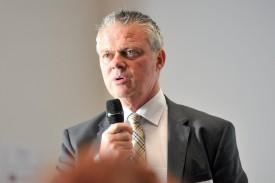 Président du Comité de pilotage d'AggloY, le syndic d'Yverdon-les-Bains Jean-Daniel Carrard a évoqué les perspectives. ©Carole Alkabes