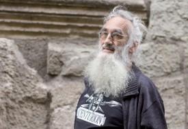 Claude Aubert, le conférencier est aussi réalisateur de péplums amateur et grand collectionneur de films du genre. ©Simon Gabioud