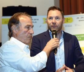 Pascal Richard, ancien coureur du VC Orbe, du Tour du Pays de Vaud et champion olympique en 1996: «Le TPV est un passage obligé pour les juniors et quelque chose qu'on n'oublie jamais.» © Michel Duvoisin