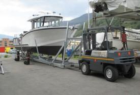 Le bateau est encore au chantier naval. Il arrivera le mois prochain à Yverdon. DR