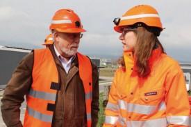 Claude Lebet, municipal de Chavornay, et Alba Torres, cheffe de projet. © Juillerat