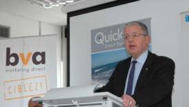 Jacques Perrin, président du Groupe BVA, lors de l'annonce.