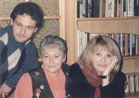Christophe, Christiane Lassueur et Mireille Darc aux Tuileries-de-Grandson. ©DR
