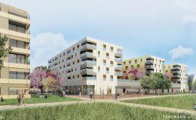 Six immeubles seront construits lors de cette première étape. ©Felhmann Architectes