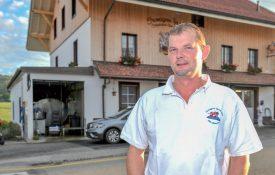 Vincent Tyrode, 42 ans, fromager français établi à L'Auberson depuis 2001. ©Carole Alkabes