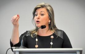 La conseillère d'Etat Nuria Gorrite. ©Carole Alkabes