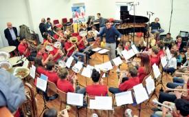 L'Ensemble de cuivre Melodia B a fait vibrer la grande salle du conservatoire. ©Carole Alkabes