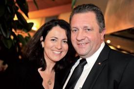 Le candidat au Conseil d'Etat Jacques Nicolet et Valérie Nardi. ©Michel Duperrex