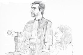 Maître Loïc Parein, avocat de la Vallorbière, décrit les différents événements vécus par sa cliente comme étant digne «d'un film de suspens qui fait froid dans le dos.» ©Emmanuelle Nater