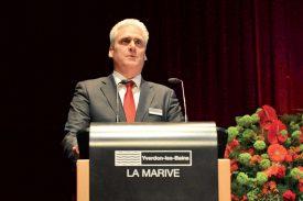 Philippe Widmer, président de la direction, a commenté les résultats d'un exercice favorable. ©Carole Alkabes