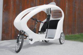 La Municipalité a acheté trois triporteurs électriques, d'un modèle CityCruiser 2, à la société bernoise Rikschataxi, disponibles d'ici début juillet. ©Rikschataxi.ch