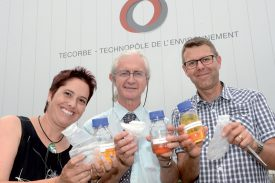 Isabelle Chevalley, Jean-Bernard Michel (au centre) et Philippe Randin. ©Michel Duperrex