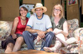 Les organisateurs Chloé Collomb, Steven Piguet et Manon Aubert (de g. À dr.). ©S. GA