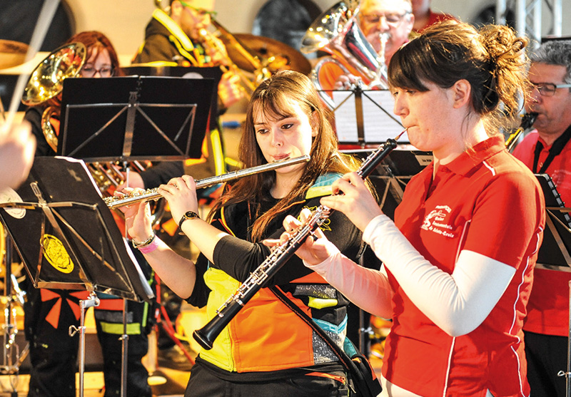 L'Union instrumentale de Sainte-Croix a donné un concert samedi matin. © Carole Alkabes