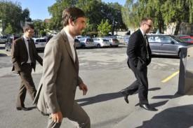 Certains des avocats ayant pris part au procès.