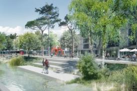 Exemple d'aménagements qui pourraient être réalisés le long du Canal Oriental. DR