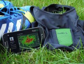 Sur l'écran, la «heat map», les zones couvertes par le joueur. © www.fieldwiz.com