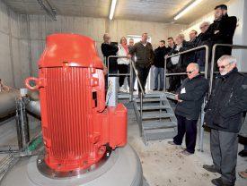 La nouvelle turbine du Bief Rouge est partie au quart de tour lors de sa mise en service. ©Jean-Philippe Pressl-Wenger