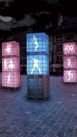 Choisissez votre couleur, dansez et admirez vos mouvements sur l'un des neuf cubes qui seront installés sur la place Pestalozzi. ©DR