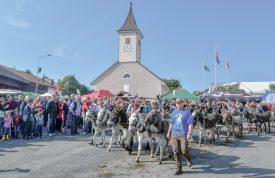 Quelque 6000 personnes ont assisté aux cortèges sur la place du village. ©Pierre Blanchard