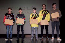Les heureux élus grandsonnois du BMX Club, avec de g.à.dr.: Damien Chatagny, Alexandre Emmel, Arnaud Gasser, Simon Jaqueret et Romain Tanniger. ©Gabriel Lado