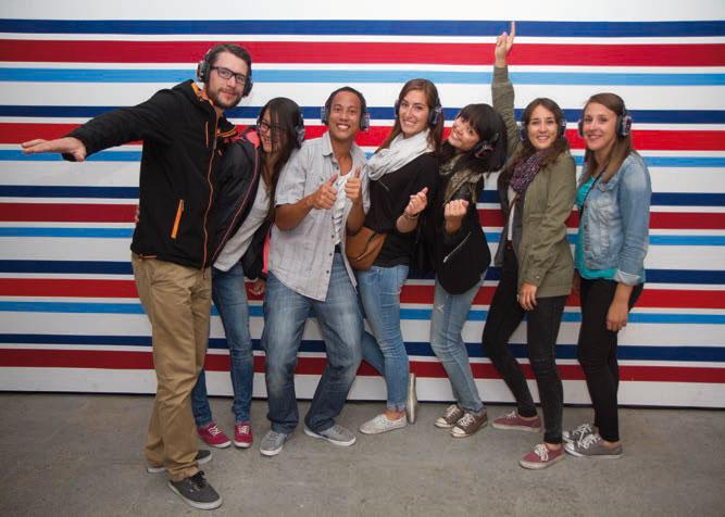 Les volleyeuses et volleyeurs yverdonnois ont profité de la Silent Party au Centre d'art contemporain, samedi soir. ©Justo