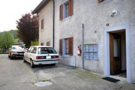 L'individu s'était retranché dans cette maison, avant l'intervention des forces de l'ordre. © Michel Duperrex -a
