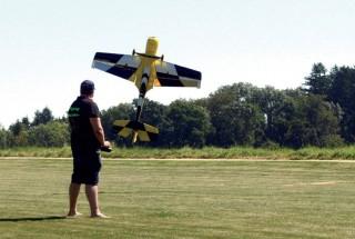 Il faut être un as de la manette pour faire voler ces modèles réduits motorisés. ©Michel Duvoisin