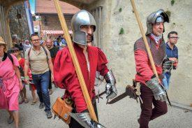Plusieurs compagnies médiévales ont contribué à animer la fête. ©Carole Alkabes