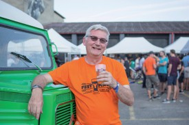 Mark Borden, organisateur de FestYmalt, ne cachait pas son plaisir. © Simon Gabioud